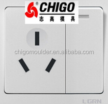 home used plastic switch socket injection by small injection moulding machine