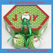 High quality crystal ball set for christmas gift, popular xmas decoration ball set wholesale