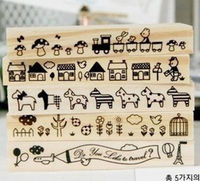 Beautiful stamps set for children stamps for sale wooden stamp