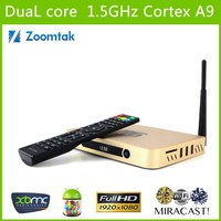 Zoomtak T6s 1080P Android TV Box DVB T2 With internally 2.5 in. SATA HDD MX XBMC BOX OTT TV BOX