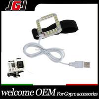 USB Port LED Lens Ring Shooting Night Flash Light Replenishment Light for Gopro Hero 4 3+ 3 2 Camera Waterproof Skeleton Case