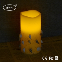 wholesale seashell remote control weddings decoration color changing cheap led candle