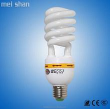 T2 9mm tube 24W CFL fluorescent half spiral energy saving bulbs warm white pure white
