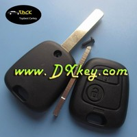 2 buttons remote car key with 434 MHz ID46 Chip for peugeot key peugeot 307 remote key