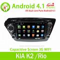 Estrella lsq pantalla capacitiva 2 del coche del dinar de radio android para kia k2/rio con 3g gps wifi