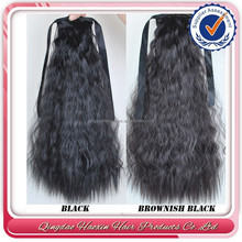 New products wrap around human hair drawstring ponytail