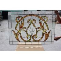 Tiffany solid windows and doors decorative folding glass window