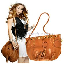 Korean Style Lady fashion PU leather Shoulder Messenger Bag Hobo Handbags