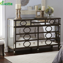 Bedroom cheap black match clear Gabrielle Mirrored Dresser