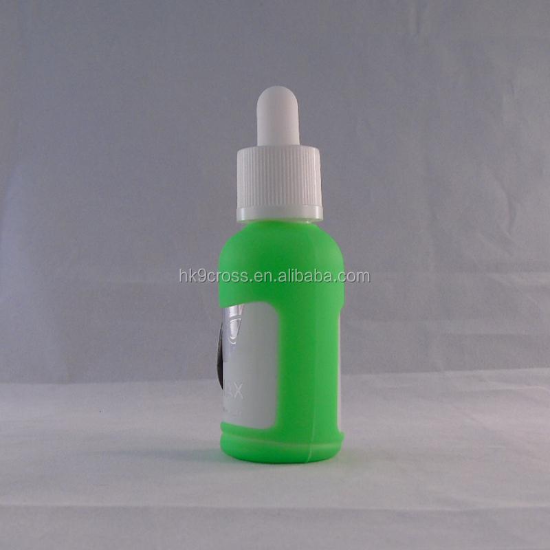 Doldurulabilir 30 ml ile cep yağ parfüm cam pipet şişe Silikon kol