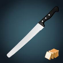 """kitchen knife 10"""" Wide Bread knife with superior POM handle"""