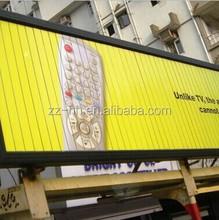 three sided rotating outdoor aluminium building advertising billboard