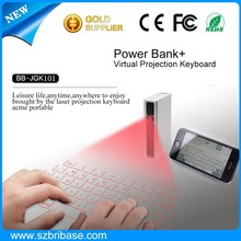 Wireless Bluetooth Infrared Laser Virtual Keyboard with Mouse&Speaker&Power bank for Mobile phones