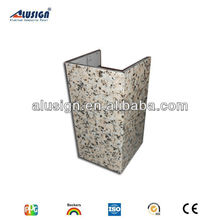never change shape stopping heat marble texture composite facade cladding