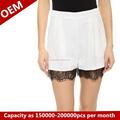 RHR rahat bayan kısa pantolon moda kız siyah dantel pantolon