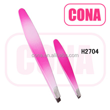 Professional high quality stainless steel eyebrow tweezers H2704