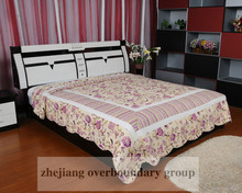 Korean style Pink quilt /patchwork and embrodery quilt sets / bedding set