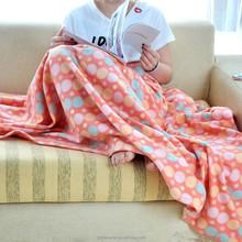 Cheap and light dot printed blanket polar fleece blanket girls blanket