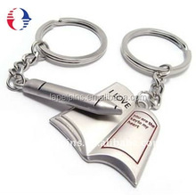 Custom Lover Keychains in Silver Plated