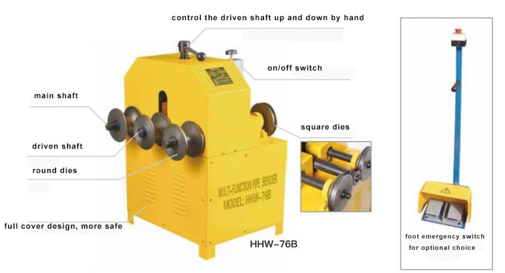 HHW-G76/76b eléctrica máquina dobladora de tubos laminados
