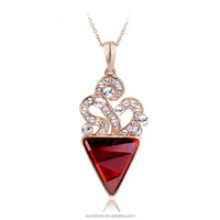 OUXI elegant high-end crystal wholesale fashion jewellery pendant necklaces 10037