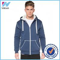 Trade Assurance Yihao 2015 Wholesale Custom Print Sports Hooded Clothing Wear Zip Sweatshirt Blank Hoodies Men