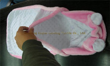 cotton inner and soft Fleece infant Blanket and swaddle