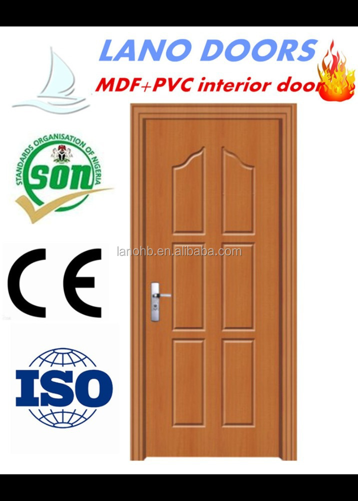 Pvc plastic interior door pvc plastic interior door for Good quality interior doors
