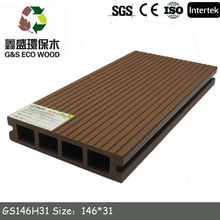 Outdoor plastic composite decking for garden with CE Certification / wpc decking Manufacturer
