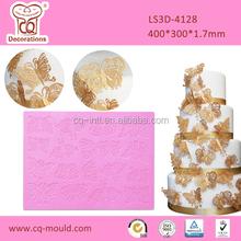 Fondant cake decoration 3D silicone lace mat,silicone icing lace mat,silicone cake lace mat for cake