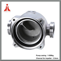 Lost wax investment casting centrifugal pump casing body shell factory