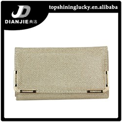 stock Hot sale PU phone bag wallets evening bag CLUTCH with chain for ladies