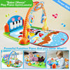 HX910501 Rainforest gym mat musical baby play mat piano kick play mat