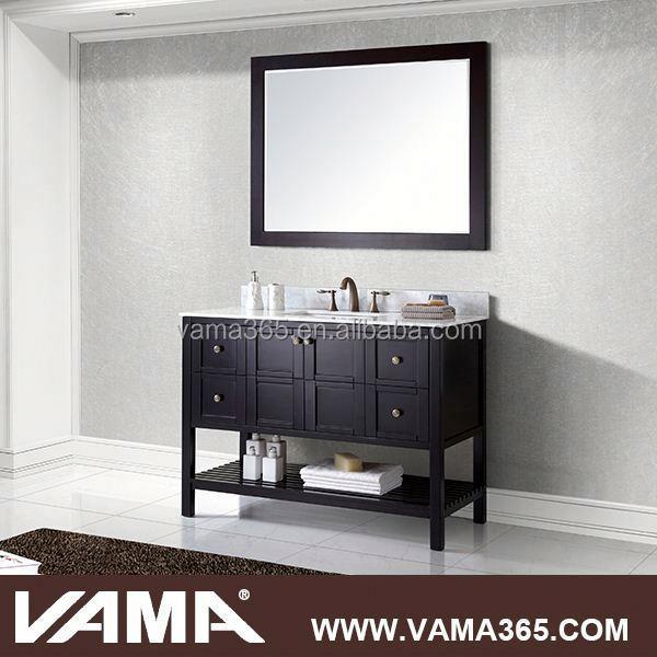 V 19713c Black Floor Mounted Solid Wood Used Bathroom Vanity Cabinets Buy Used Bathroom Vanity