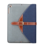 Newest Products Rotatable Leather Case Cover for iPad Air 2 with 3 Gears Holder