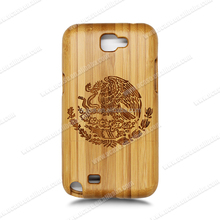 New Arrival Wood Bamboo Engrave Phone Case Cell Phone Cover For Samsung Note 2