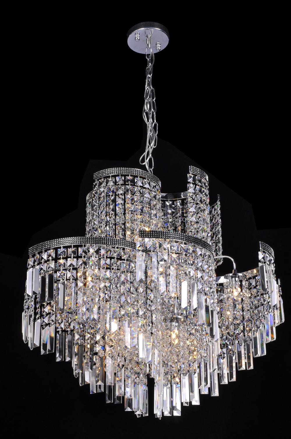 Luxury crystal hanging chandelier pendant lamps