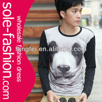2013 factory direct wholesale latest men long sleeves collar t-shirt