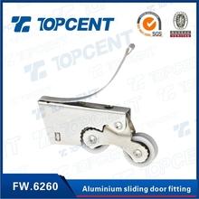 Topcent plastic furniture fitting white track aluminium sliding door wheels