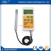 Handheld digital thermo hygrometer, self-recording electronic humidity and temperature meter, digital hygrometer thermometer
