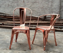 Replica Tolixchairs, Metal Rose Gold Dining Chairs