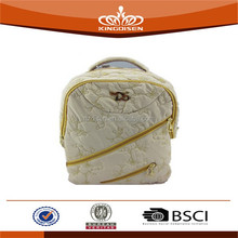 double zipped garment fabric school bags for girl