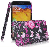 Colorful Flower Butterfly TPU Case For Samsung Galaxy Note 3 N9000/Note 2 N7100