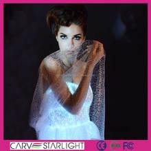 2015 hot sale fiber optic luminous adult fancy dress costumes
