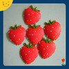 2015 custom cute strawberry shape 3D soft PVC fridge magnet