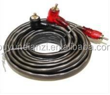 Gray Wire Copper Car Audio Wire RCA