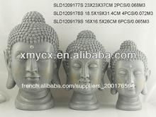 Finition du ciment 3/s tête de bouddha jardin ornements