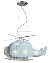 New Modern Kid's Bedroom Helicopter Ceiling Pendant Lamp Study Room Glass Airplane Ceiling Fixture Lights Chandeliers