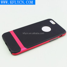 2015 new arrival and hot selling PC Bumper + Tpu 2 in 2 phone cases for iphone 6 plus
