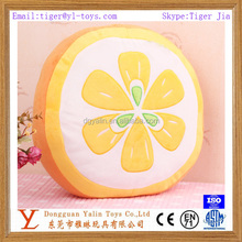 Stuffed fruit shaped plush lemon cushion for promotion